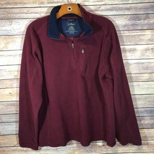 L.L. Bean Fleece Quarter Zip Pullover